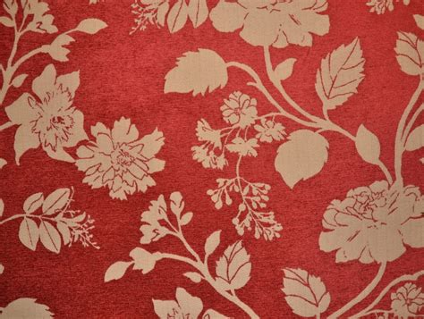 red floral upholstery fabric floral red and stone coloured fabric for curtains