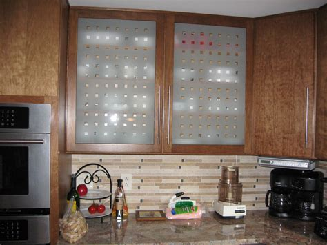 Glass Design For Kitchen Glass For Cabinet Doors Peenmedia