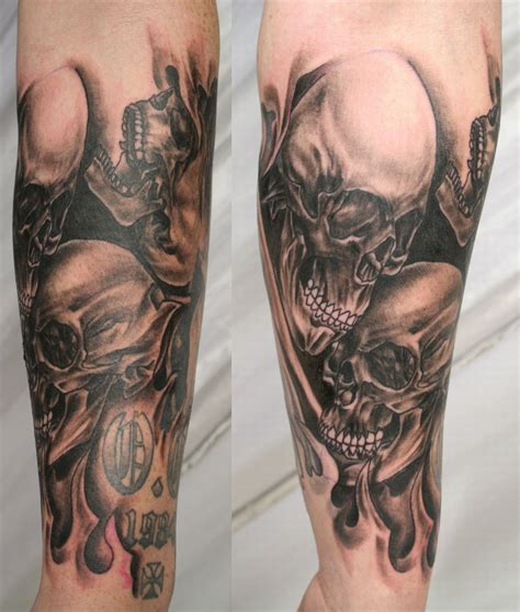 rose and skull tattoo sleeves skull tattoos designs ideas and meaning tattoos for you