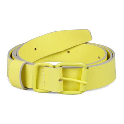 domic yellow leather belt leather4sure leather belts