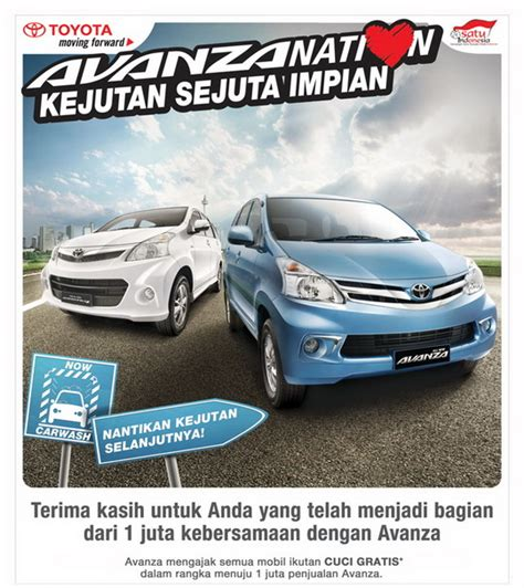avanzanation carwash  astra toyota indonesia