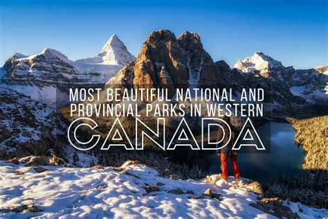 western canada most beautiful national and provincial