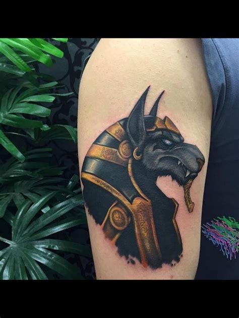 egyptian tattoo hd anubis tatuaje a color tatuagens pinterest egito e