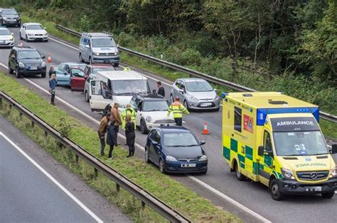 Info Lu Emergency emergency services to a38 crash involving lorry and a