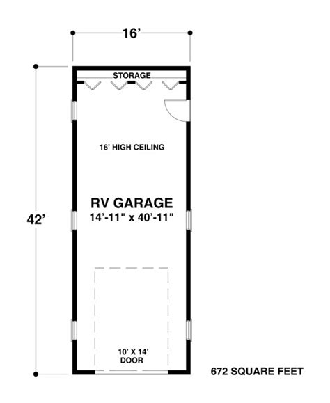 Rv Garage Floor Plans by Rv Garage One 1683 The House Designers