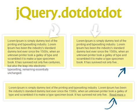 jquery tutorial advanced jquery dotdotdot advanced ellipsis on multiline content
