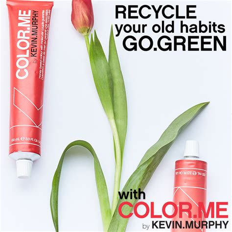 color me salon recycle your habits go green with color me and green