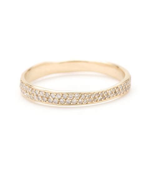 pave diamonds poesie torn paper wedding band with pave diamonds 3mm