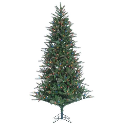 celebrate it artificial trees sterling 7 5 ft pre lit cut franklin spruce artificial tree with multi lights