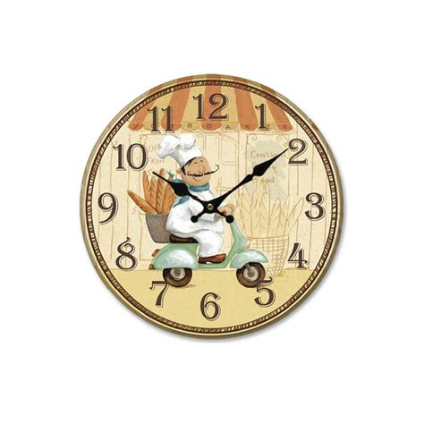 home decor wall clock aliexpress com buy european rural countryside kitchen