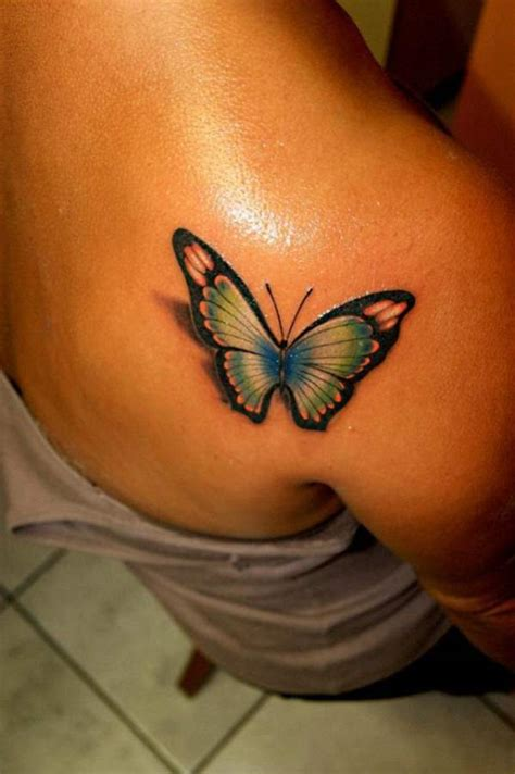 3d tattoo on the back 3d butterfly tattoo for girls on back shoulder