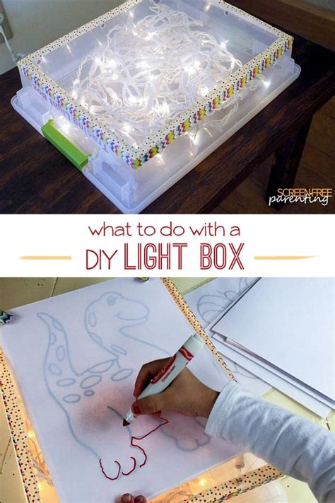 clever uses for a diy light box for all ages on as we grow