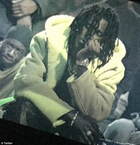 jeffrey young thug young thug seemingly falls asleep at kanye west s yeezy