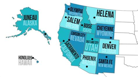 map of western states usa us western region states and capitals www pixshark