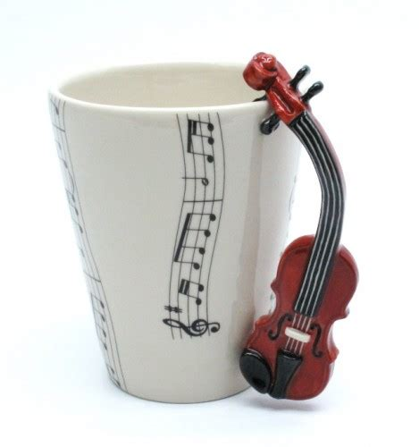 Violin Mug Ceramic Coffee Cup Handmade Home Decor Music Lover Gifts   madamepomm   Housewares on