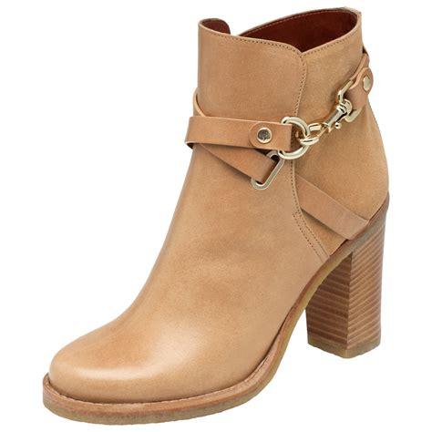 high heeled bootie lyst mulberry dorset summer high heel bootie in brown