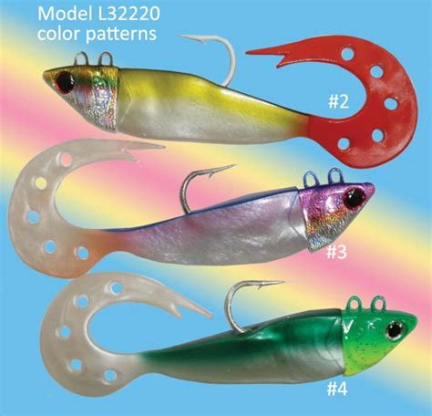 color pattern lure soft gel fishing rig osprey soft gel lure fitted with hook