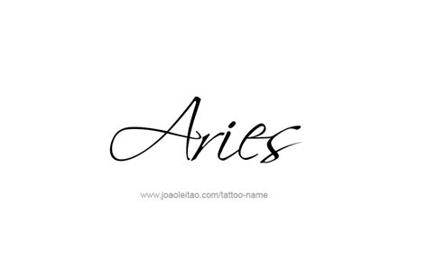 zodiac tattoo fonts aries horoscope name designs tattoos with names