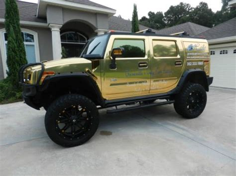 gold hummer sell used 2007 hummer h2 chrome gold lifted with 24 quot rims
