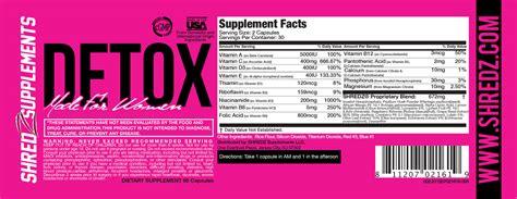Shredz Detox Dosage by Supplement Dosage Chart Shredz 174 Supplements