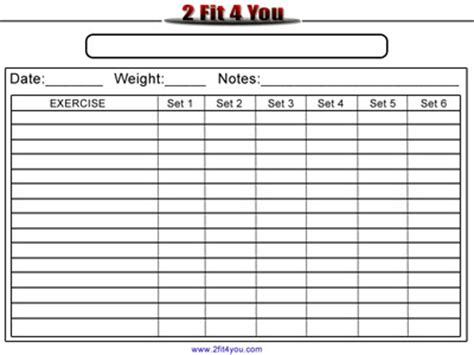 blank workout card template just a warm average wednesday fitness it doesn t