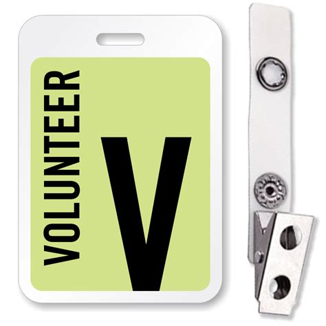 Volunteer Badge Template Buy Volunteer Reusable Id Name Badge Lowest Prices On Web Sku Bd 0413