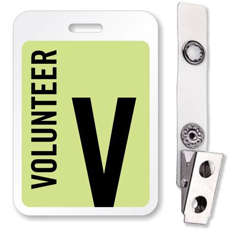 Buy Volunteer Reusable Id Name Badge Lowest Prices On Web Sku Bd 0413 Volunteer Name Tag Template