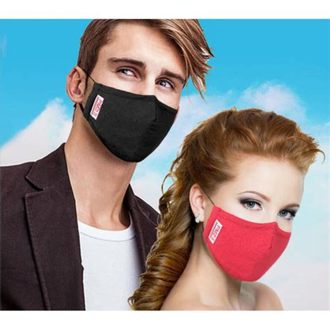 Masker Filter masker filter anti polusi hepa pm2 5 black