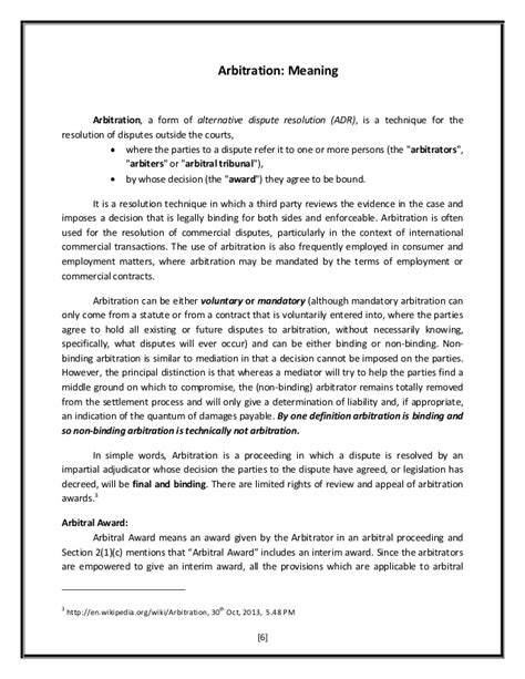 Dispute Resolution Letter Template Alternative Dispute Resolution Interim Measures