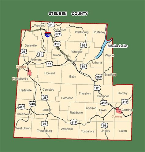 Steuben County Records Map Of Steuben County Showing State Owned Lands Open To Images Frompo