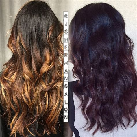Keune 5 23 Haircolor Use 10 For How Long On Hair | transformation ombre to dark cherry cola career