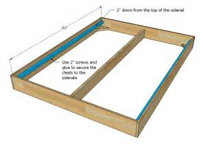 Simple Bed Frame Plans Simple King Bed Frame Plans 187 Woodworktips