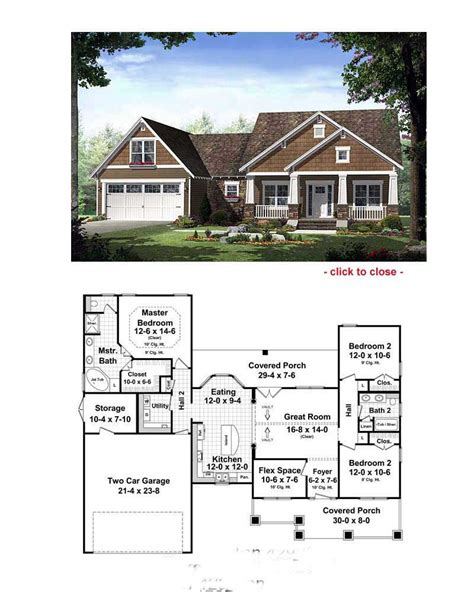 house plains sle bungalow house floor plan