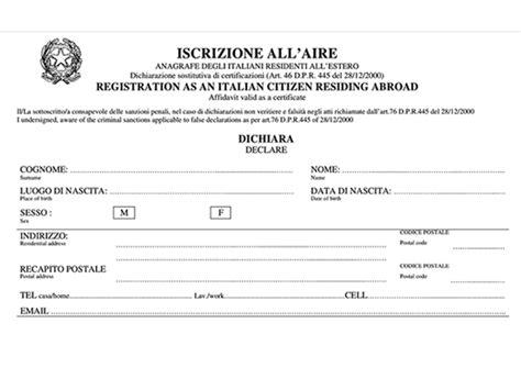 consolato generale d italia a londra aire iscrizione aire birmingham uk come iscriversi modulo