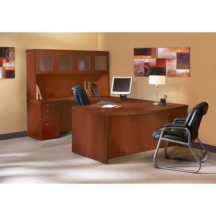 Office Furniture Unlimited by Mayline Aberdeen Office Desk Set Cherry At5lcr