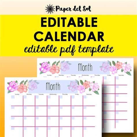 editable calendar template monthly calendar editable template planner printable calendar
