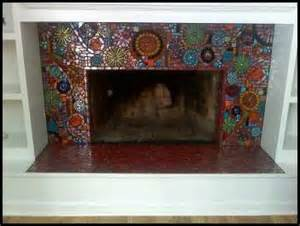 glass mosaic fireplace flickr photo
