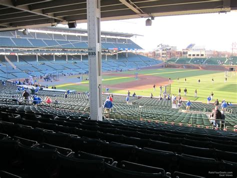 section 235 b 1 wrigley field section 235 chicago cubs rateyourseats com