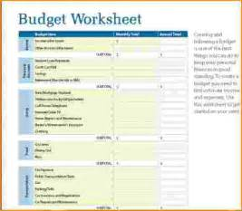 8 home budget worksheet bibliography format