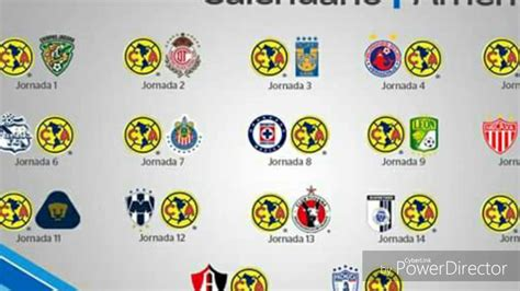 Calendario Liga Mx Club America 2016 Calendario De La Apertura 2016 Am 233 Rica Atlas Azul Chivas