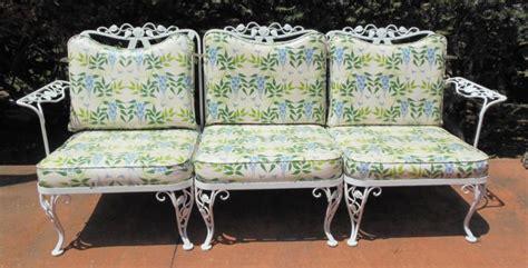 sofa woodard vintage chantilly rose vintage wrought