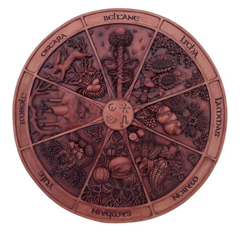 wheel of the year plaque sabbat plaque for your home