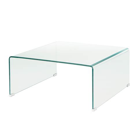 bent glass coffee table bent glass square coffee table xcella