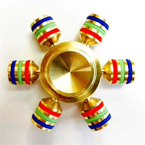 Fidget Spinner Finger Spiner Tiga 3 Metalik Stress Original Spin Wars 6 Sided Metallic Fidget Spinner