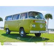 Volkswagen VW Camper Van Antique Car Green &amp White
