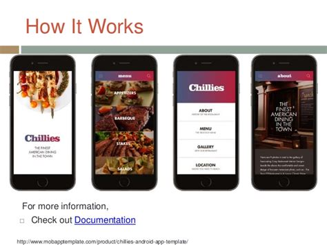 restaurant app template chillies android app template fit for your restaurant
