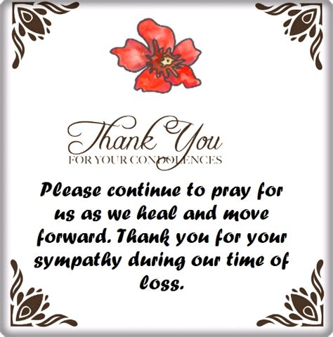 thank you for the comforting words thank you for your condolences quotes and notes
