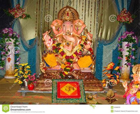 Ganpati Decoration At Home beautiful idol lord ganesh iv stock photos image 9588633