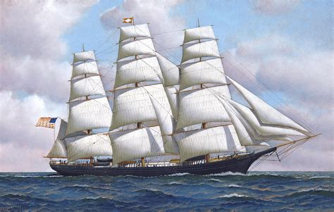 flying cloud boat flying cloud a clipper ship drawing optimiced en