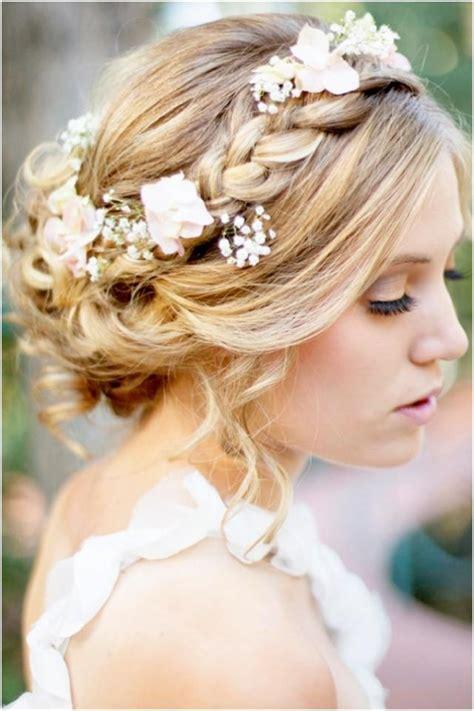 bridal hairstyles boho a romantic bohemian wedding hairstyle weddbook